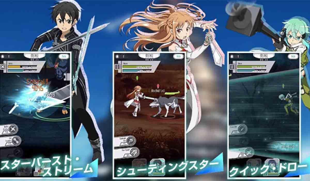 Sword Art Online Memory Defrag gacha RPG