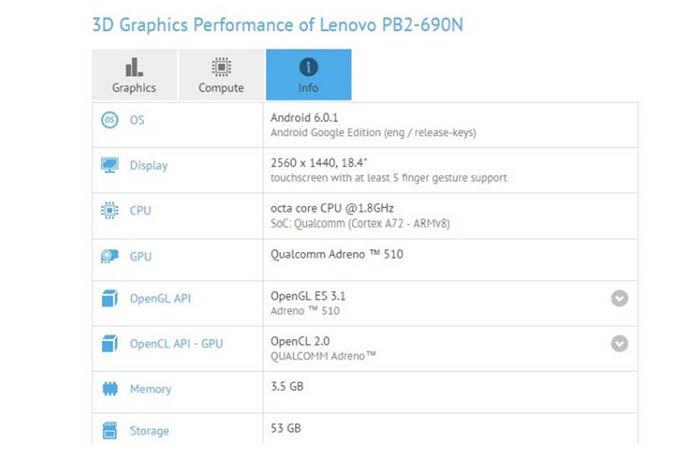 Tablet 18 pulgadas Lenovo