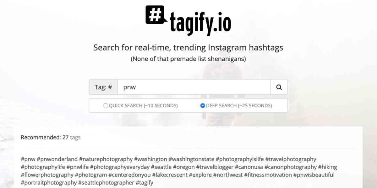 Tagify la herramienta para elegir buenos hashtags en Instagram
