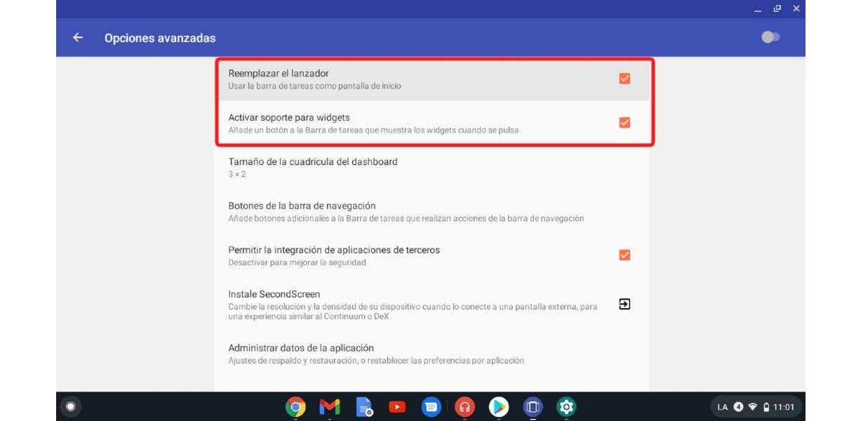 Instala Taksbar en tu Chromebook