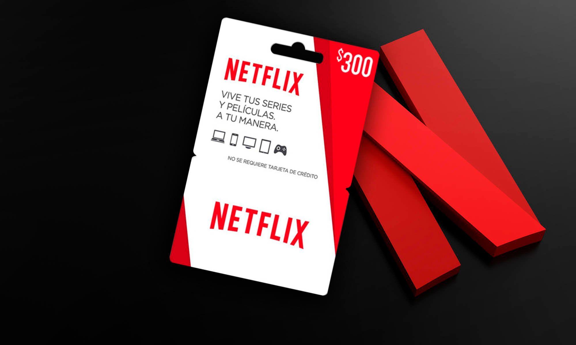 Tarjetas regalo de Netflix para no tener que pagar con tu tarjeta y datos bancarios