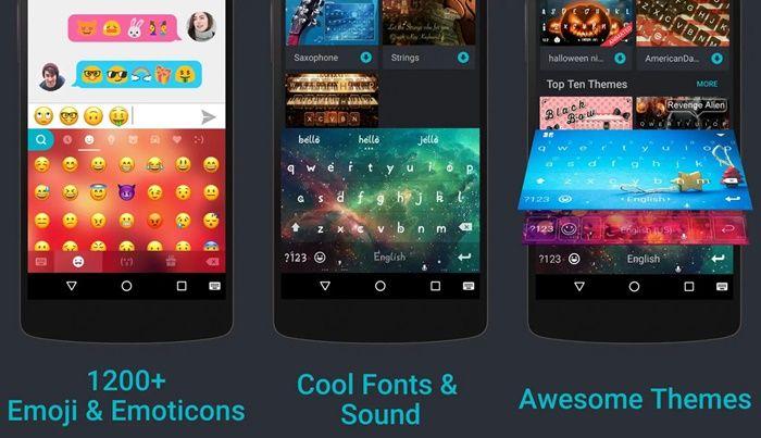 Teclado 2018 app de Android con emojis iPhone