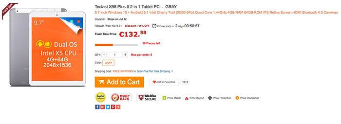 Teclast X98 Plus 2 oferta
