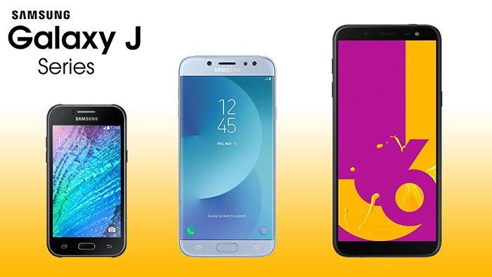 Telefonos Galaxy J actualizacion