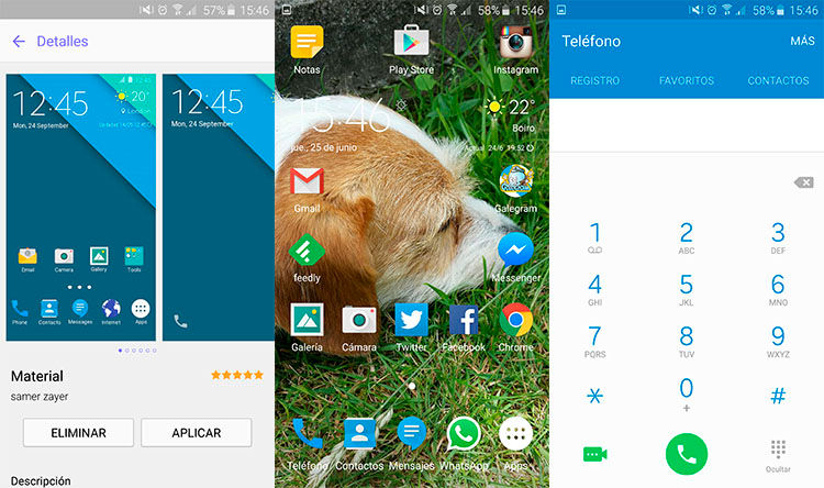 Tema Material Design Galaxy S6
