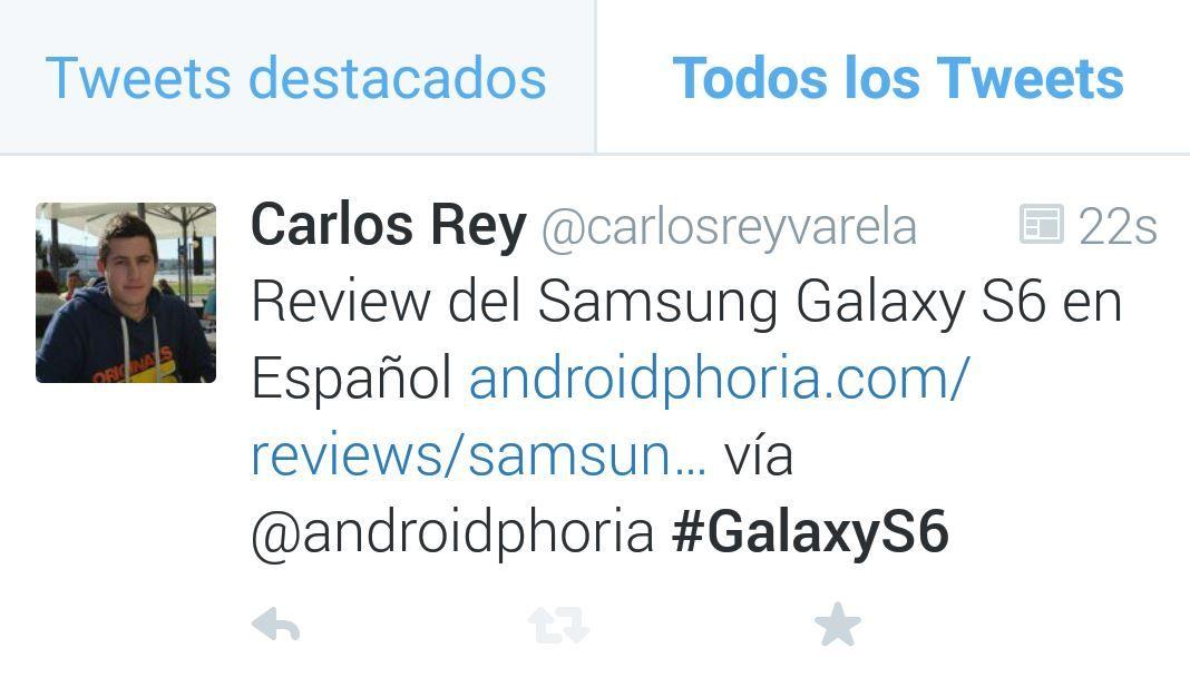 Tendencias de Twitter en Android