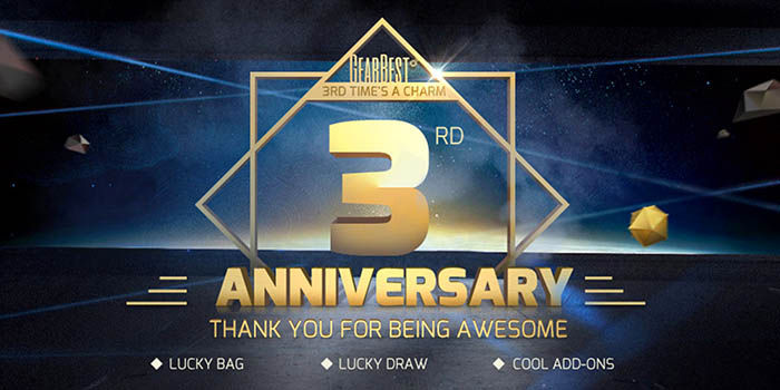 Tercer aniversario GearBest