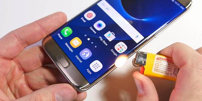 Test resistencia Galaxy S7 Edge