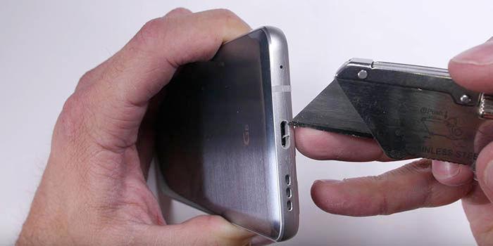 Test resistencia LG G6