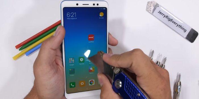 Test resistencia Xiaomi Redmi Note 5