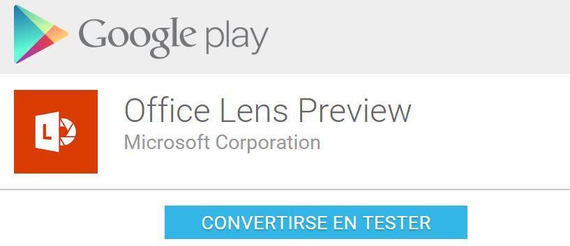 Tester de Office Lens para Android