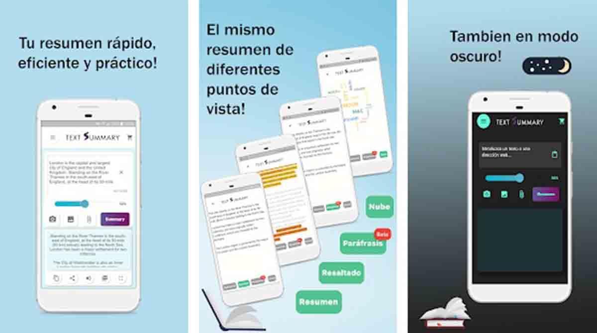 Text Summary app resumir textos móvil