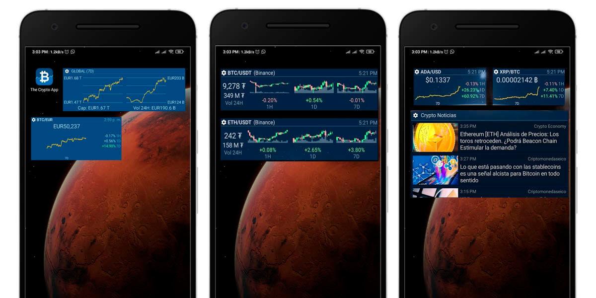 The Crypto App widget android