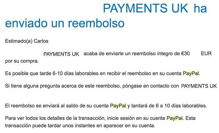 Tiempo tarda reembolso PayPal