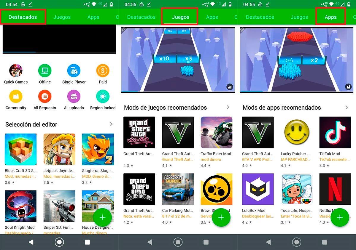 Tienda de aplicaciones HappyMod Android