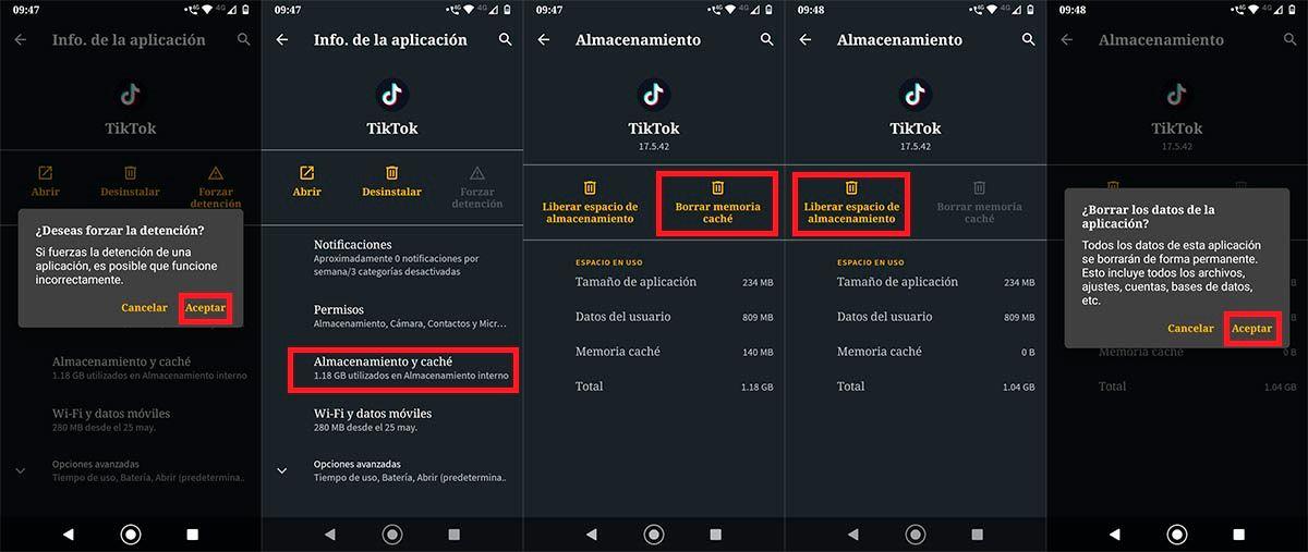 TikTok no carga videos solucion