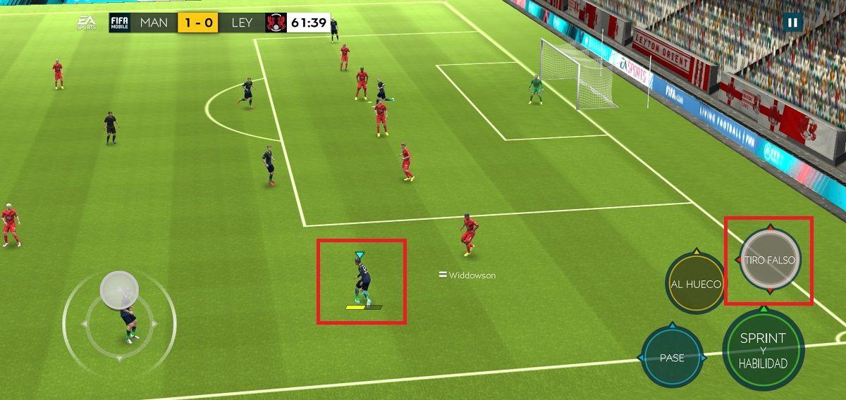 Tiro falso o amague FIFA mobile