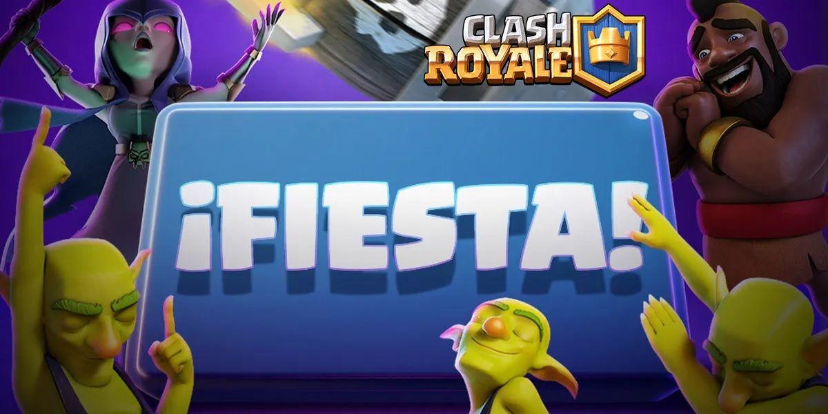 Todo lo que debes saber sobre el nuevo boton Fiesta en Clash Royale