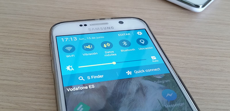Toggle datos móviles en Galaxy S6