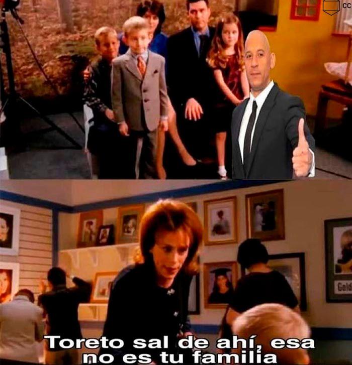 Toretto la familia Meme Malcolm