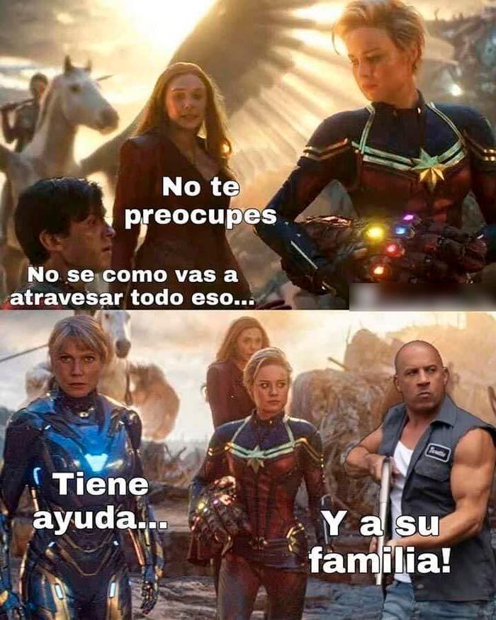 Toretto meme la familia Avengers