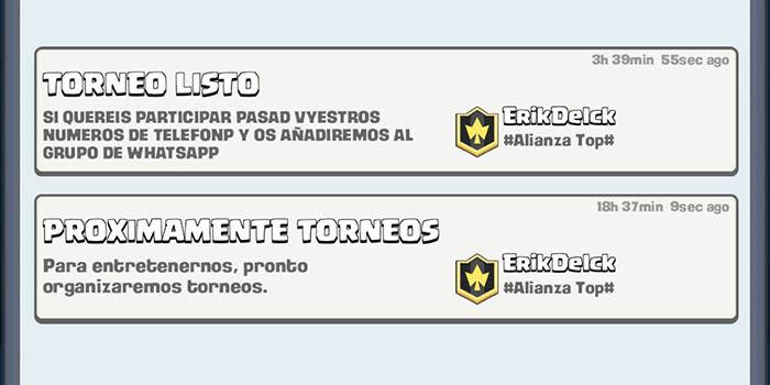 Torneos en Clash Royale