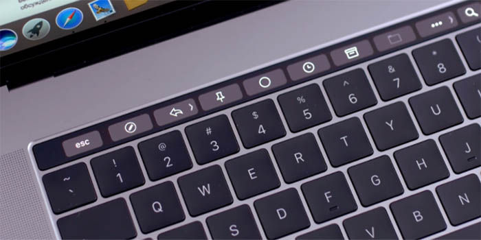 TouchBar de la Macbook