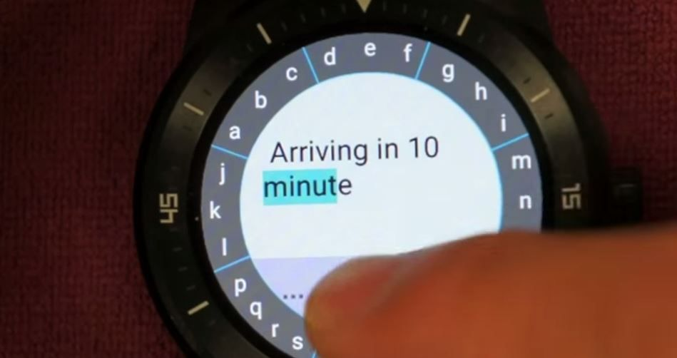 TouchOne teclado circular Android Wear