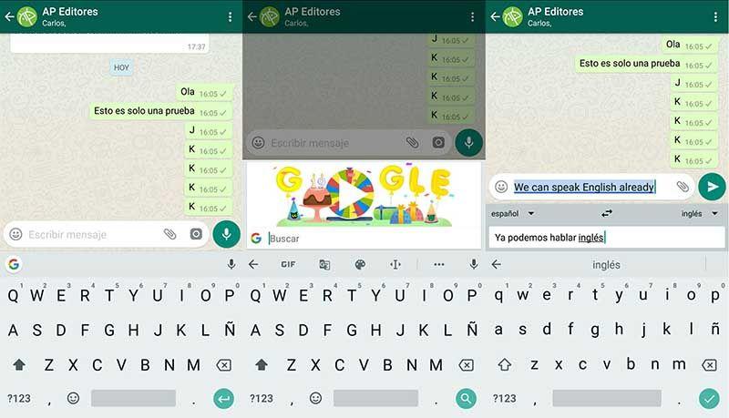 Traduccion tiempo real WhatsApp