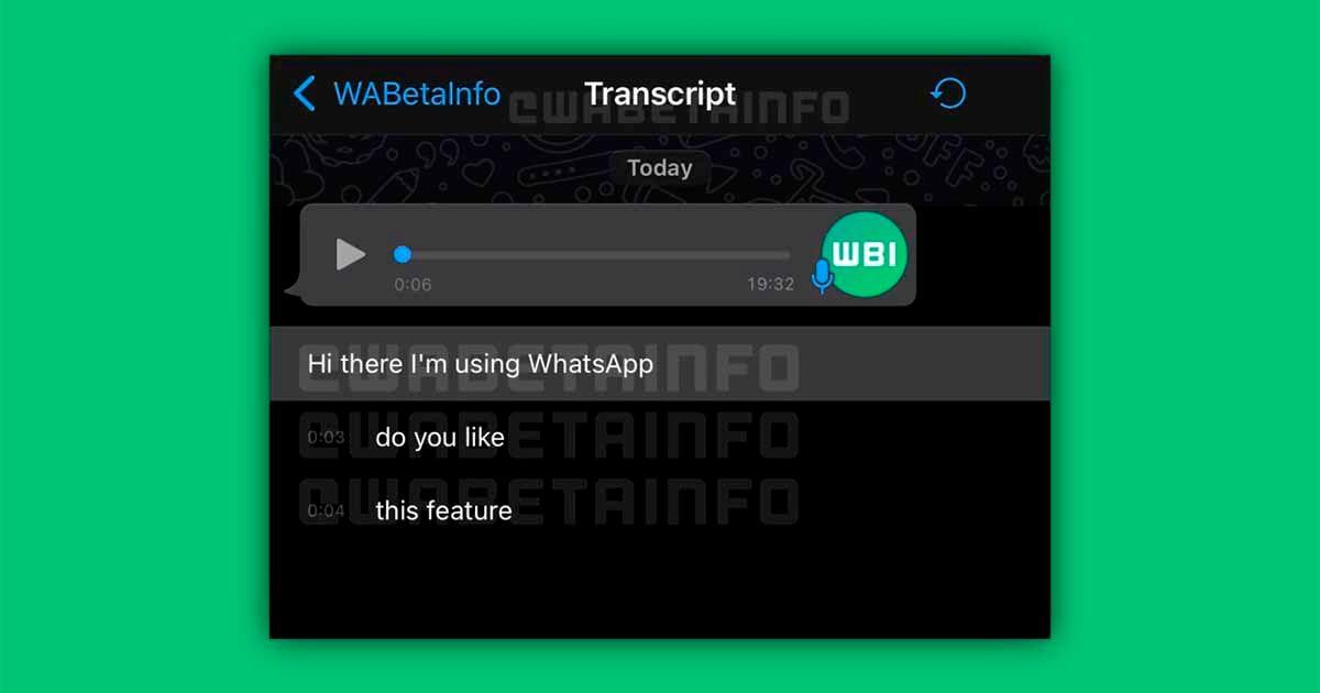 Transcribir notas de voz WhatsApp