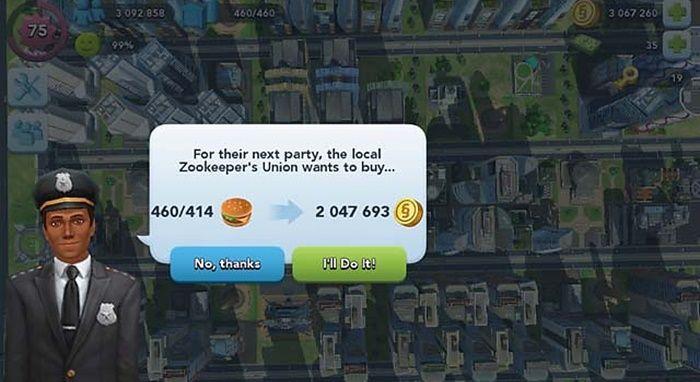 Truco de las hamburguesas en SimCity BuildIt