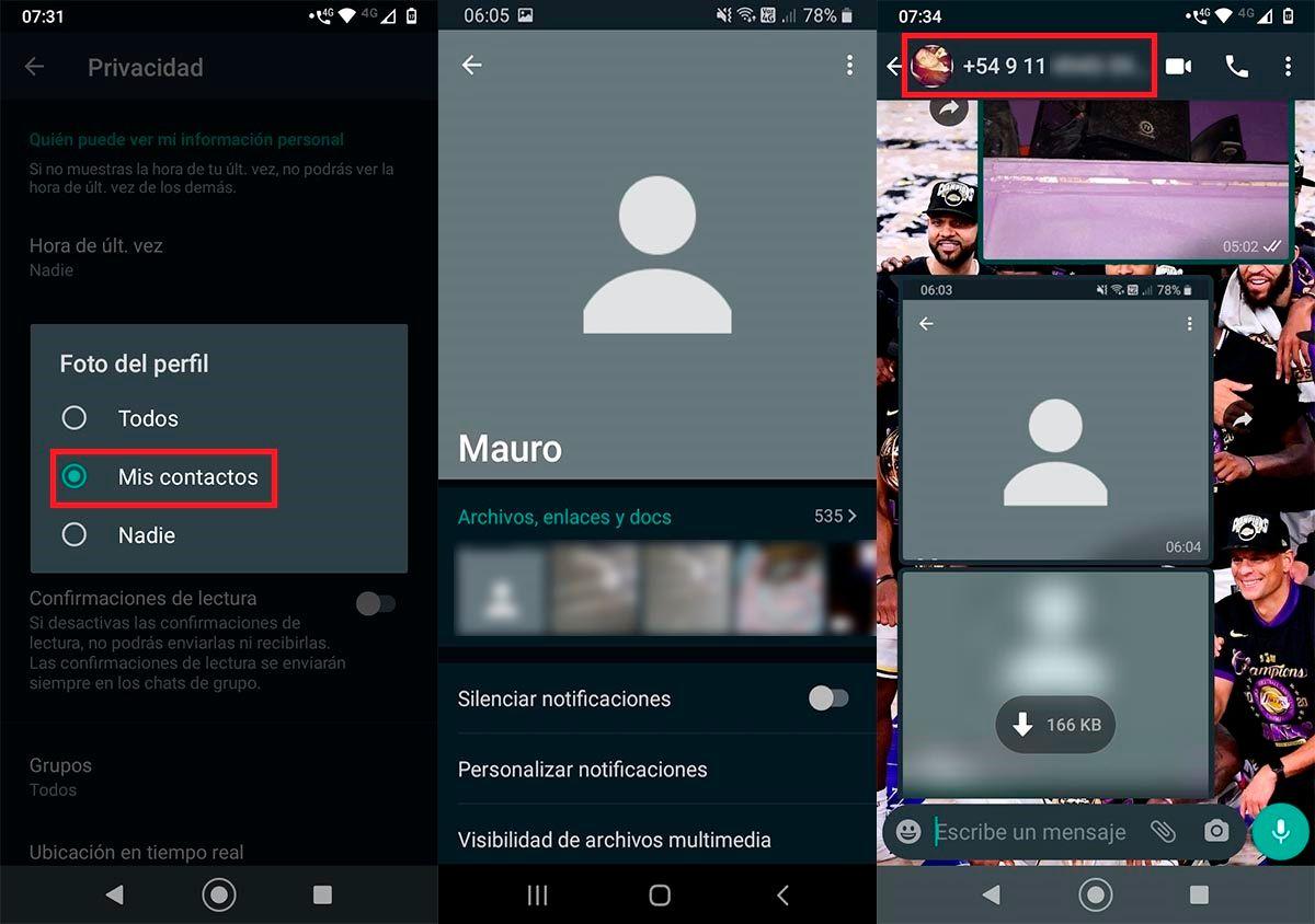 Truco whatsapp ocultar foto a un contacto