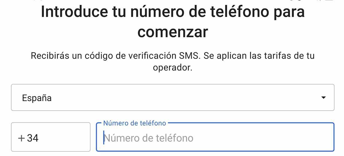 Tu número de teléfono móvil