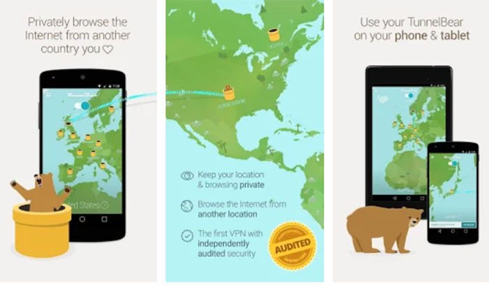 TunnelBear VPN para Android