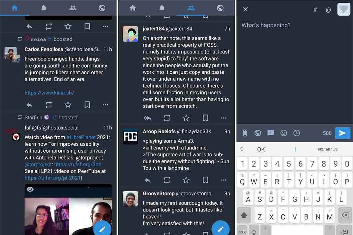 Tusky app código libre Android