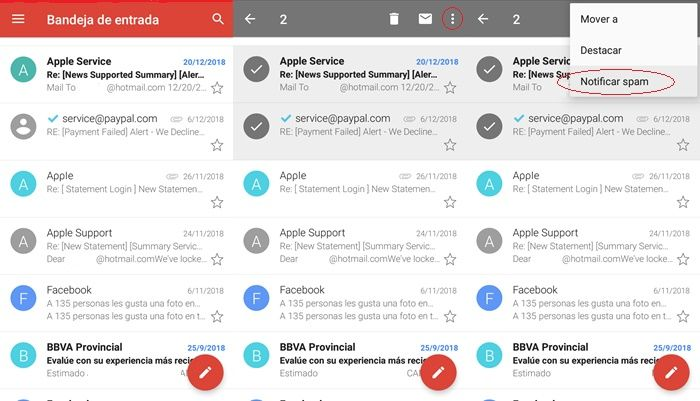 Tutorial bloquear spam en Gmail Android