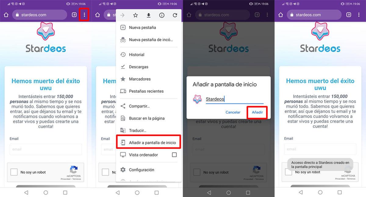 Tutorial para hacer un acceso directo a la plataforma de vídeo Stardeos en la pantall principal de tu móvil Android
