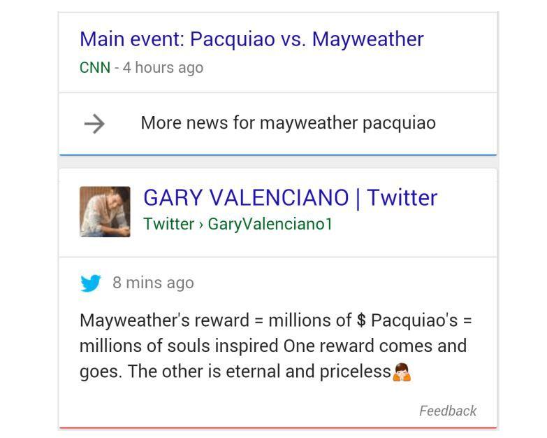 Tweets en Google