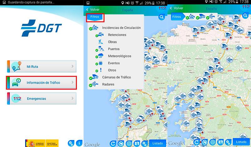 Ubicación de los radares de la DGT en Android