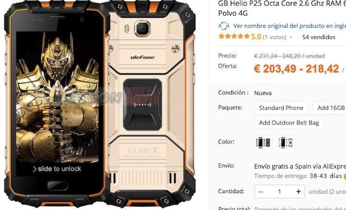 Ulefone Armor 2 barato comprar