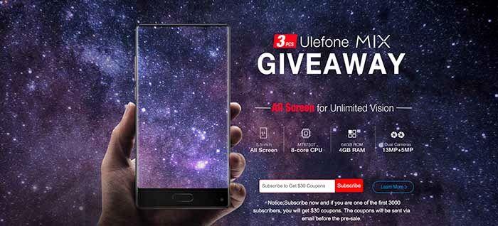 Ulefone MIX Giveway