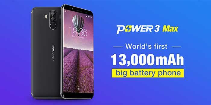 Ulefone Power 3 Max bateria 13 000 mah