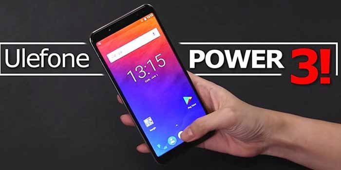 Ulefone Power 3 en mano