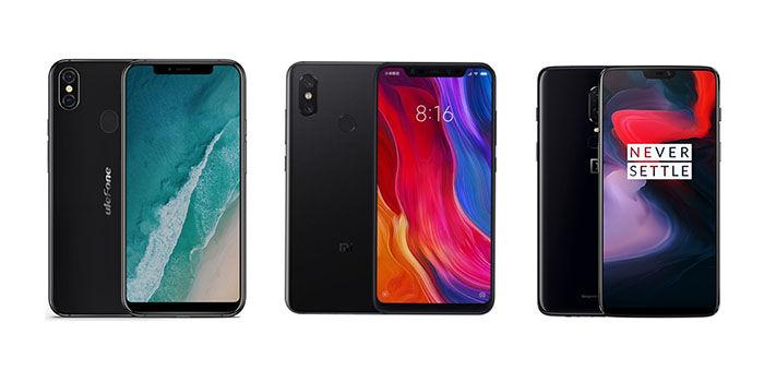 Ulefone X vs Xiaomi Mi 8 vs OnePlus 6