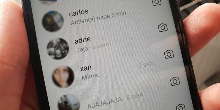 Última conexión en Instagram