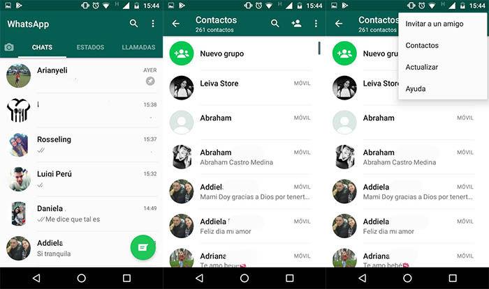 Un nuevo chat en WhatsApp