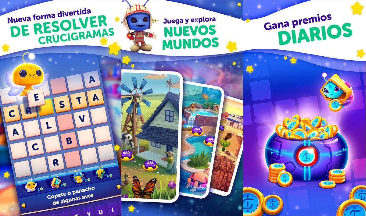 Uno de los juegos de crucigramas gratis más descargados de la Play Store por su diseño