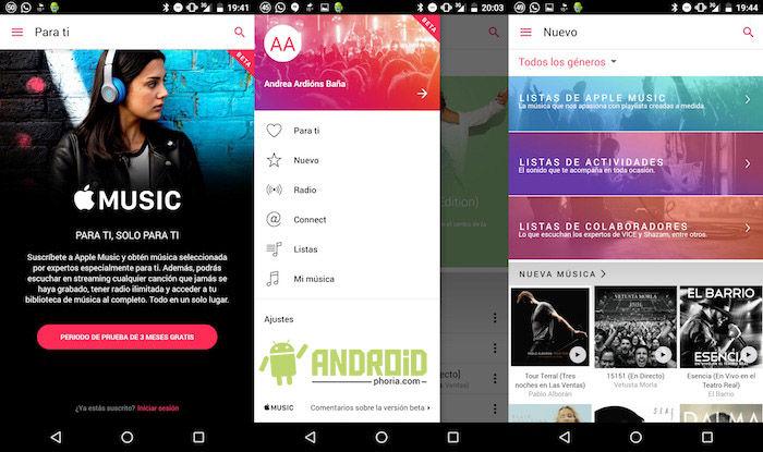 Usar Apple Music gratis en Android