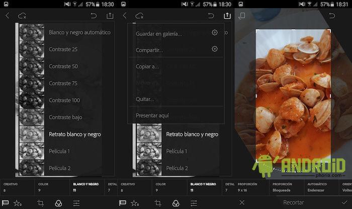 Usar Lightroom gratis en Android