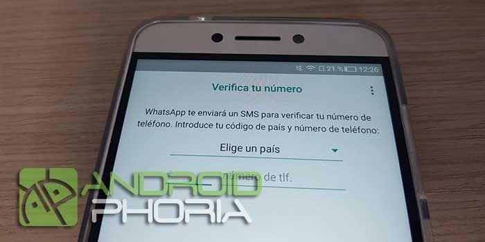 Usar WhatsApp sin dar numero telefono